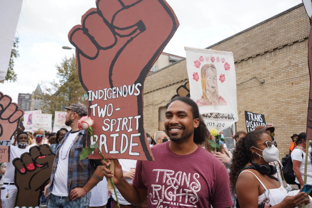 Chet Carter believes that it shouldn't have gotten to this point — people shouldn't have to take to the streets to defend their right to be who they want to be