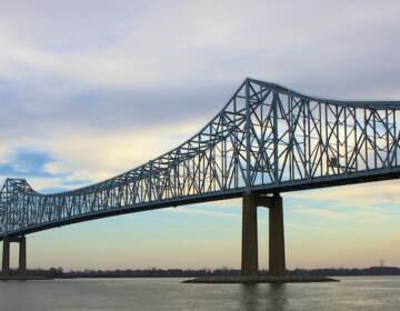 The Delaware River at the Commodore Barry Bridge
