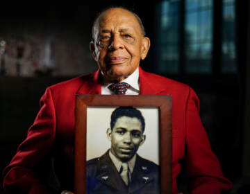 Retired Lt. Colonel Harold Brown, a member of World War II's Tuskegee Airmen