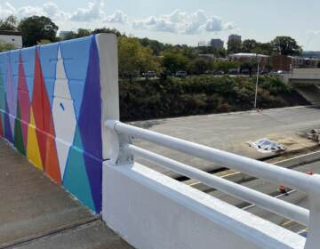I-95 cuts a path through Wilmington, dividing the city's west side from the main section of downtown. (Mark Eichmann/WHYY)