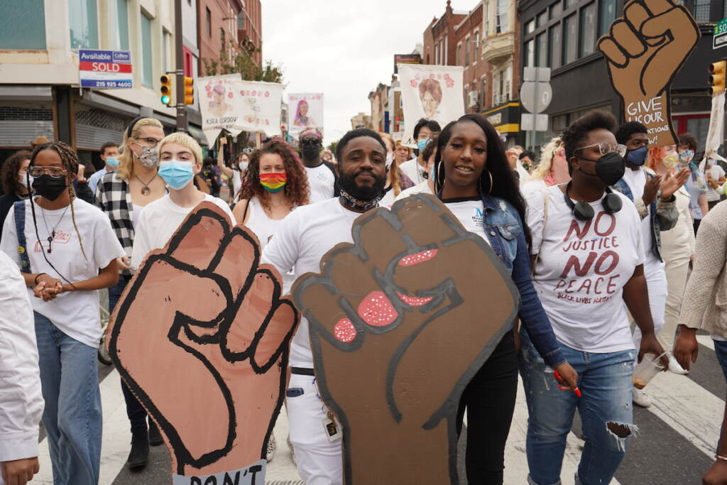 Kidir Rivers (L) and Briana Williams (R) want more peace