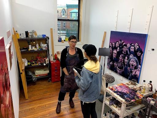 Mary Henderson's studio