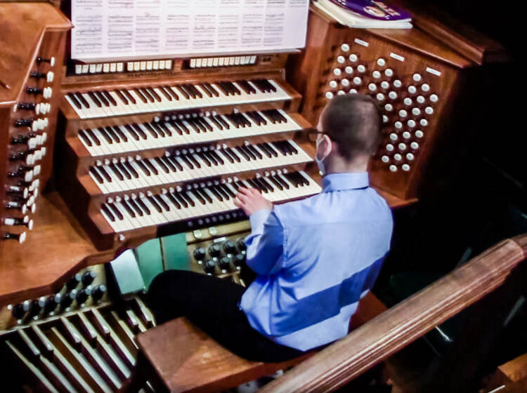 Aaron Patterson playing the organ