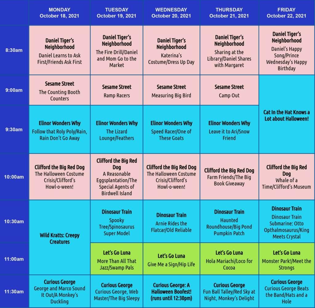 WHYY Your Learning Neighborhood TV Schedule