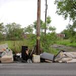 Household trash dumped on Wyoming Avenue. (Emma Lee/WHYY)