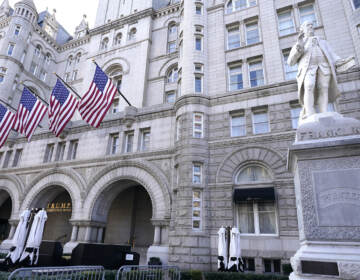 Former President Donald Trump's company lost more than $70 million operating his Washington, D.C., hotel while he was in office, according to documents released by congressional Democrats on Friday. (Julio Cortez/AP)