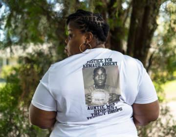 Ahmaud Arbrey's Aunt, Theawanza Brooks in front of her home in Brunswick, Ga.