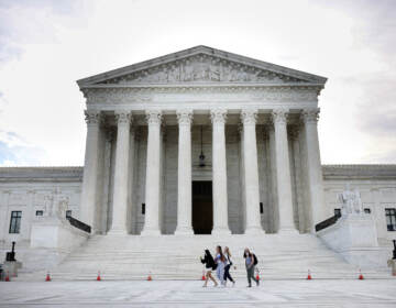 The U.S. Supreme Court is seen on Oct. 5, 2021 in Washington, D.C. The court is holding in-person arguments for the first time since the start of the COVID-19 pandemic. (Kevin Dietsch/Getty Images_