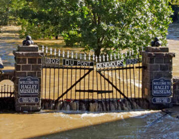 Located on the banks of the Brandywine River, Hagley Museum and Library suffered millions of dollars in damage as the remnants of Hurricane Ida dumped heavy rains on the region. (photo courtesy Hagley Museum and Library)