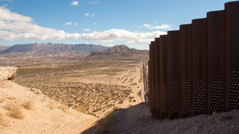 The border between the U.S. and Mexico near El Paso
