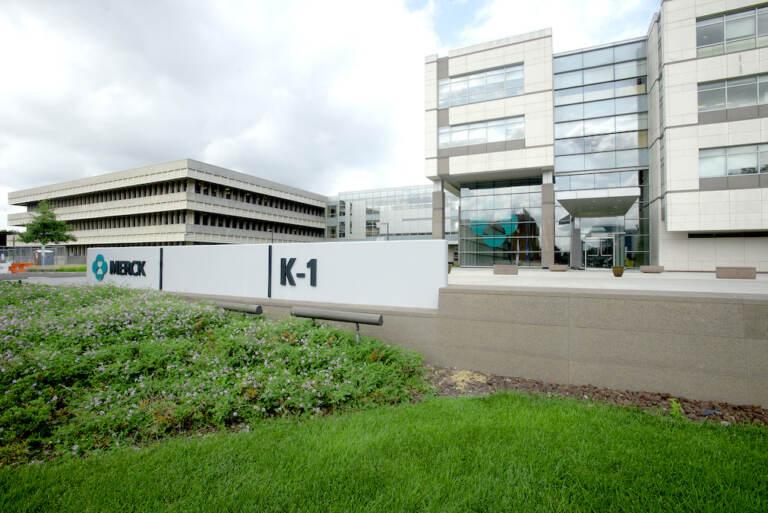 The exterior of Merck headquarters