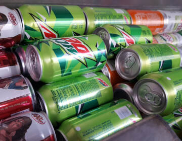 Cans of Mountain Dew