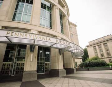The exterior of the Pennsylvania Judicial Center.