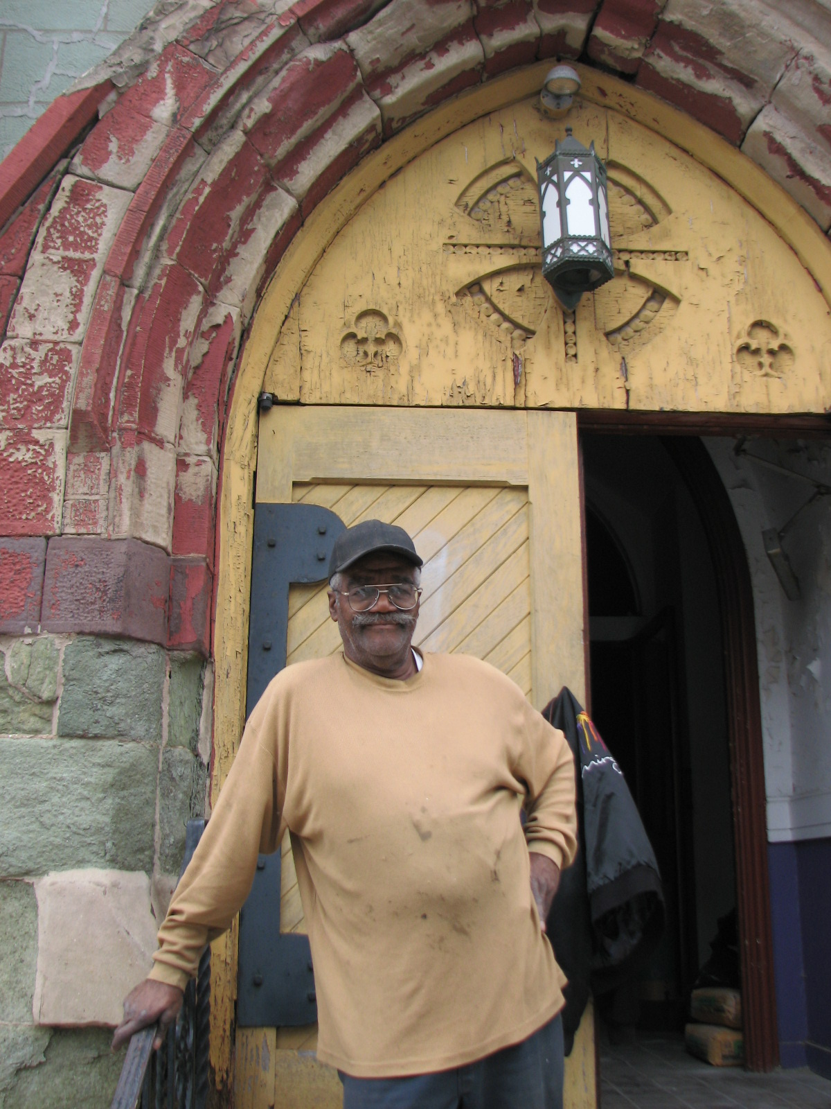 Deacon Lloyd Butler, a retired carpenter, has led the first phase of the church's preservation.