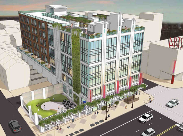 JKR Partners/Dranoff Properties' proposed six-story rental apartments for Broad and South Streets .