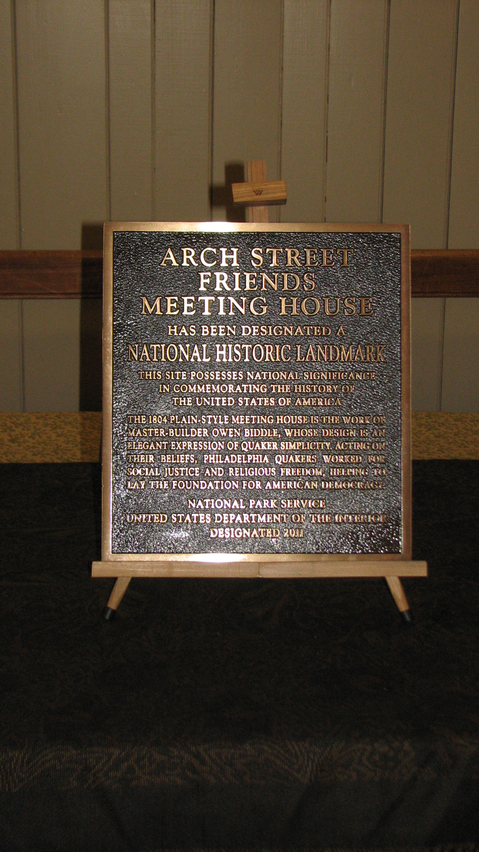 The plaque designating the building as a National Historic Landmark was unveiled at a ceremony on Oct. 13.