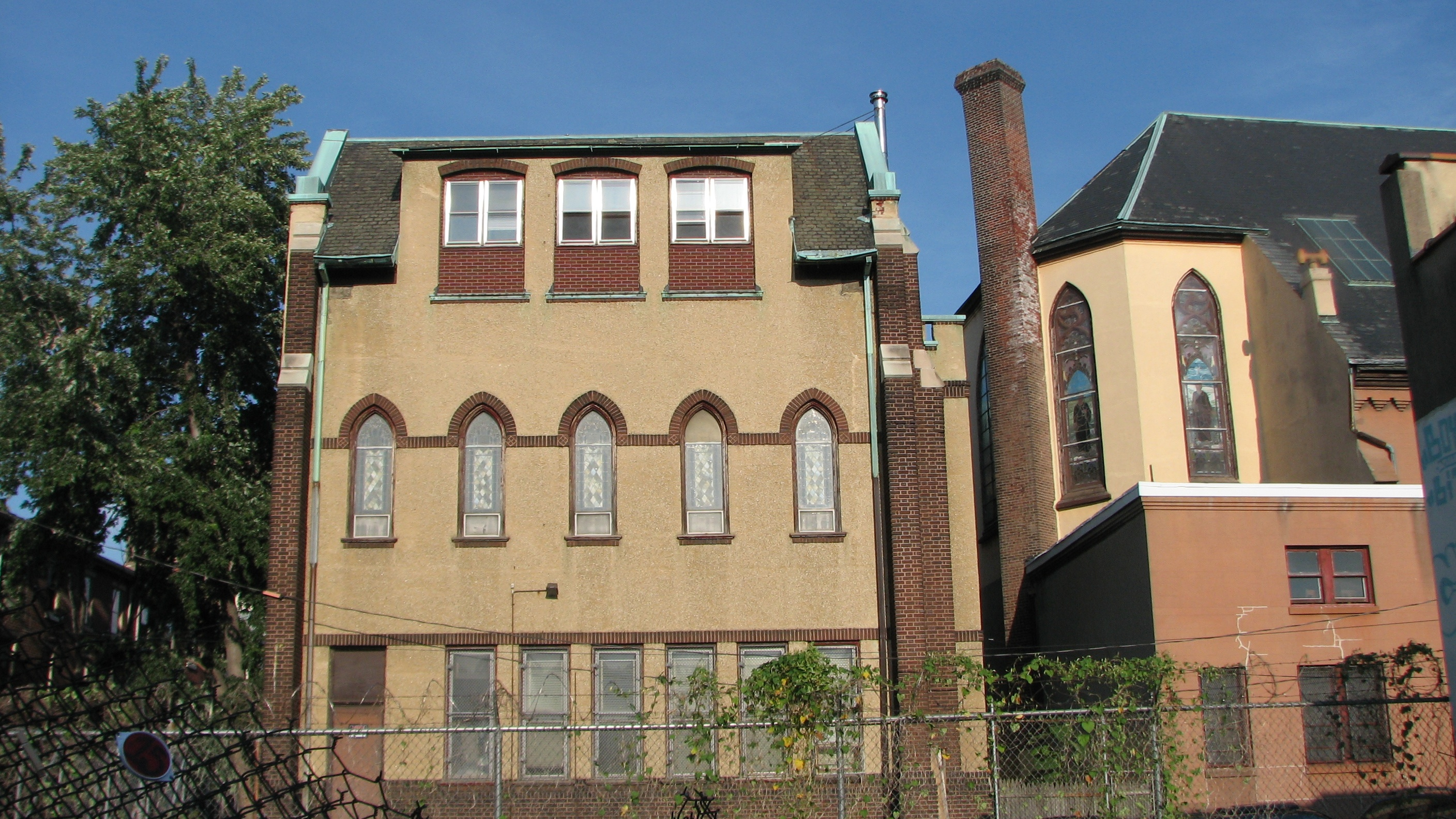 The former convent sits behind the church on Brandywine Street.
