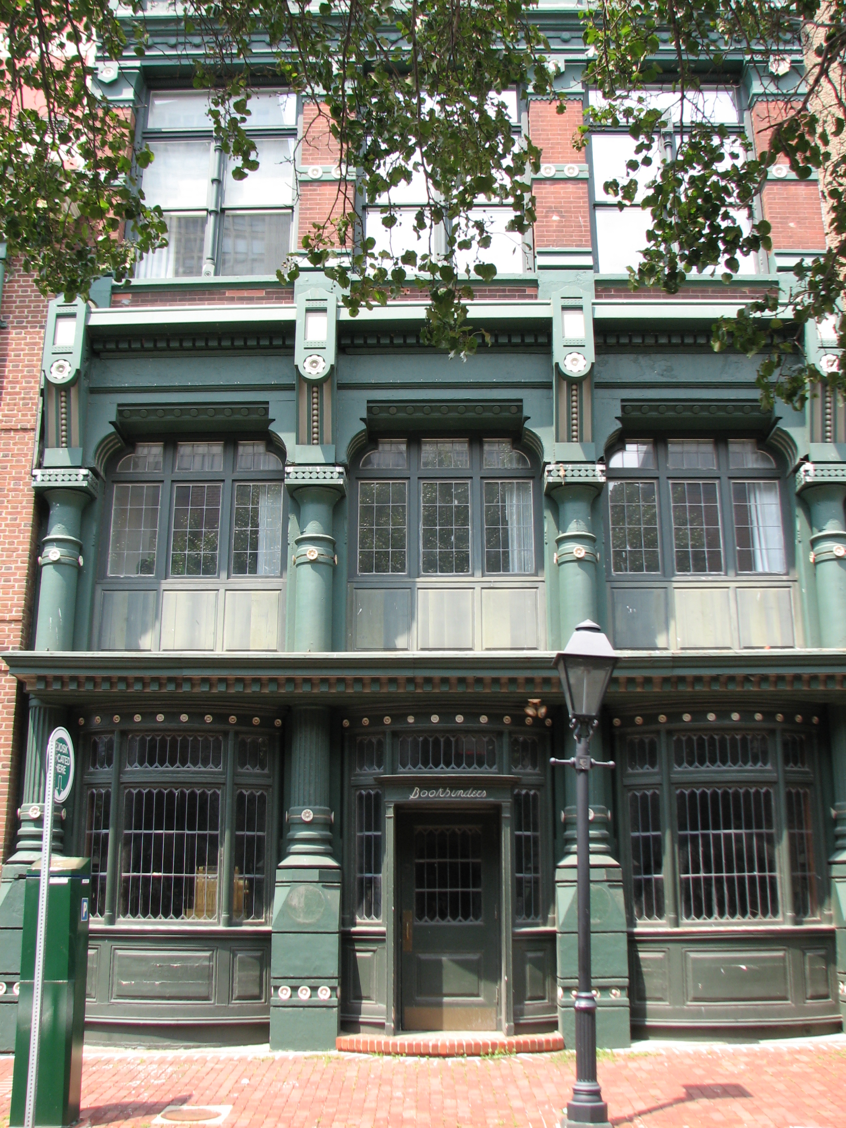 The handsome Victorian building at 127 Walnut was constructed in cast iron in 1875.
