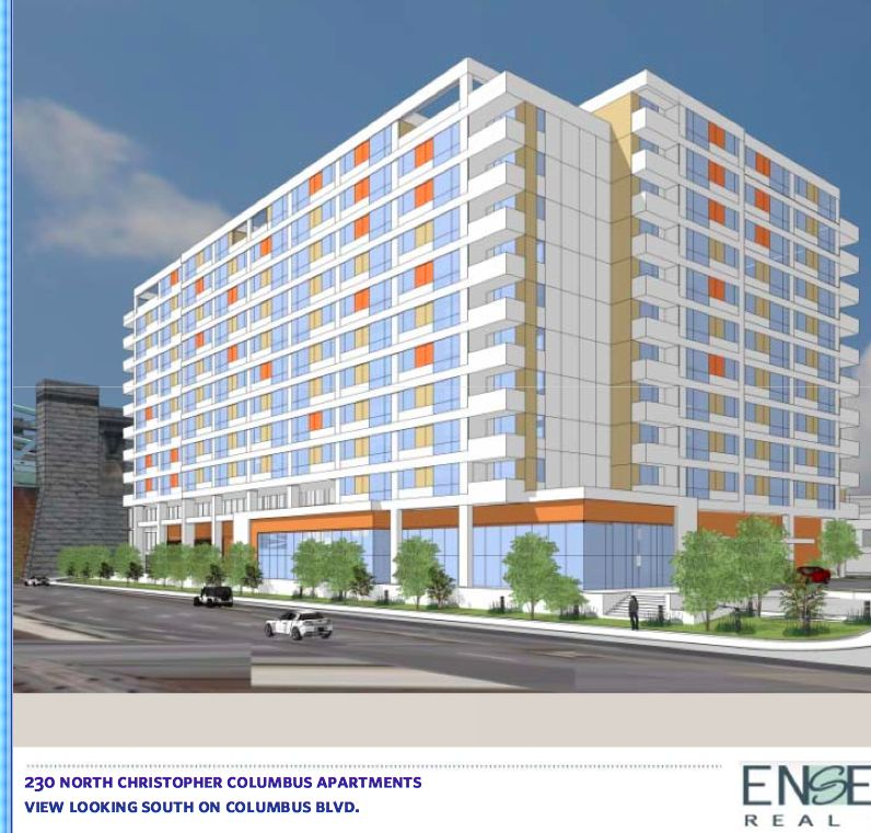 Rendering of Ensemble Real Estate's Delaware Avenue proposal. The architecture is not fully settled yet.