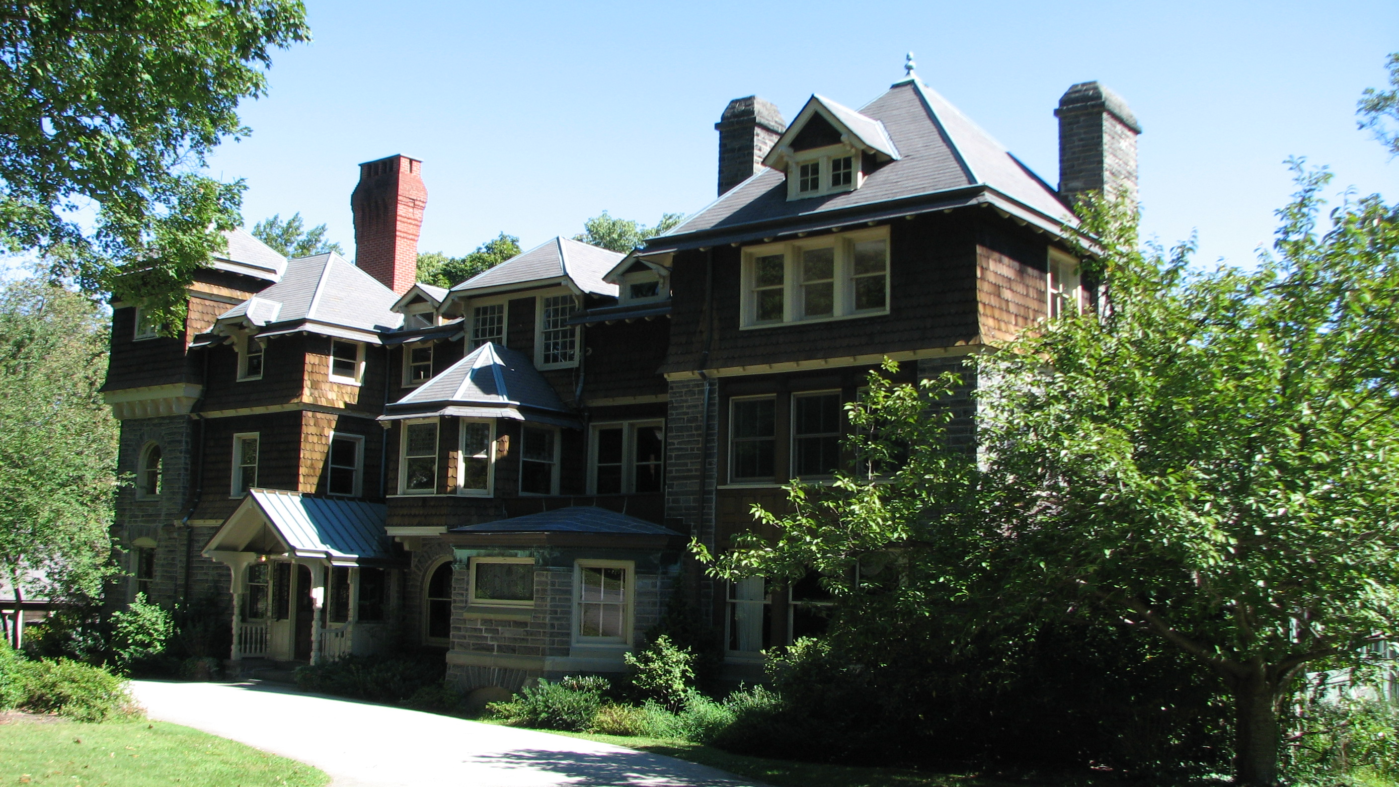 The design of Dolobran, 231 Laurel Lane in Haverford, began in 1881 and continued until 1895.