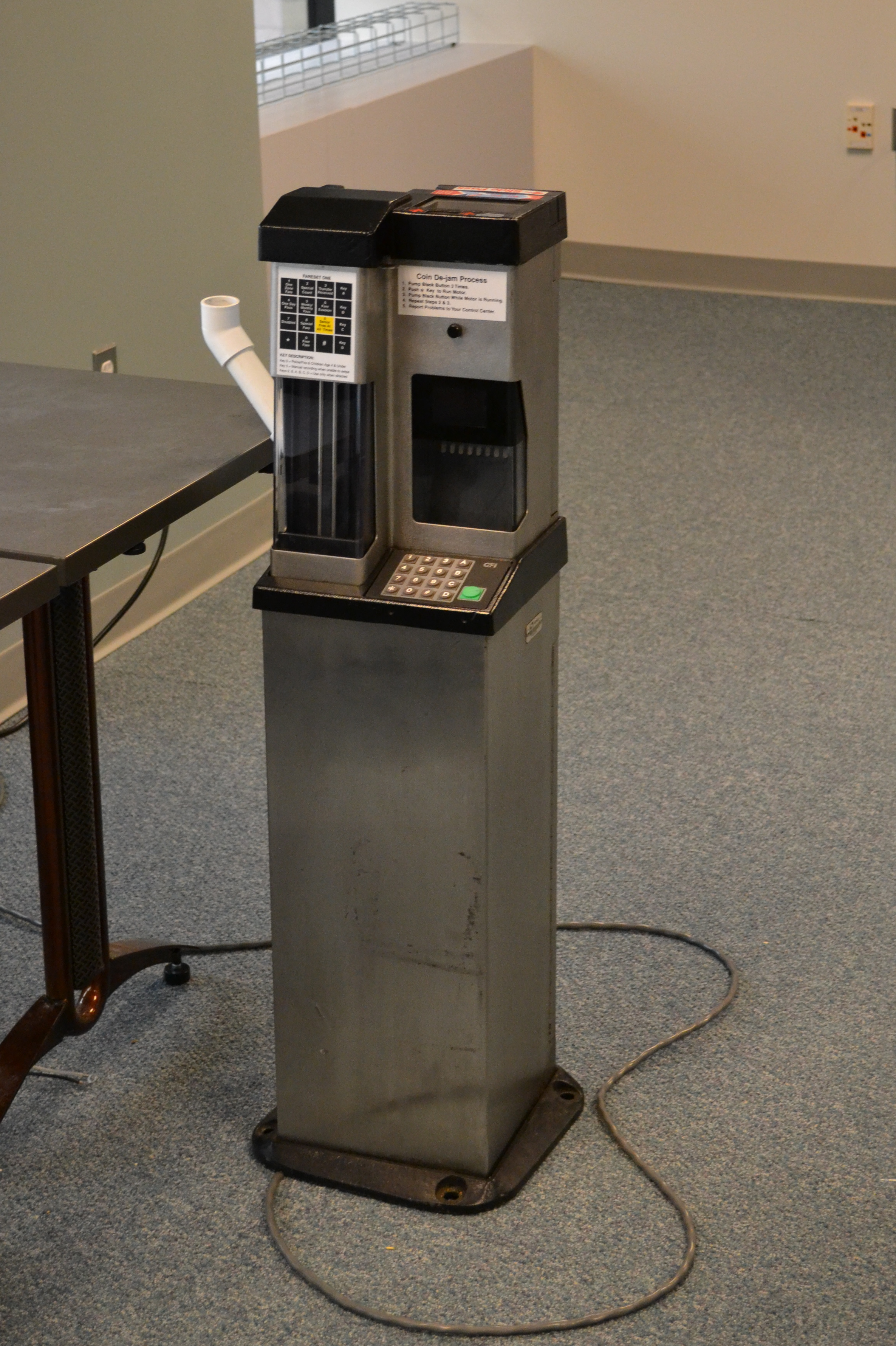 The bus and trolley fare boxes, which were updated fairly recently, will not be replaced but modified