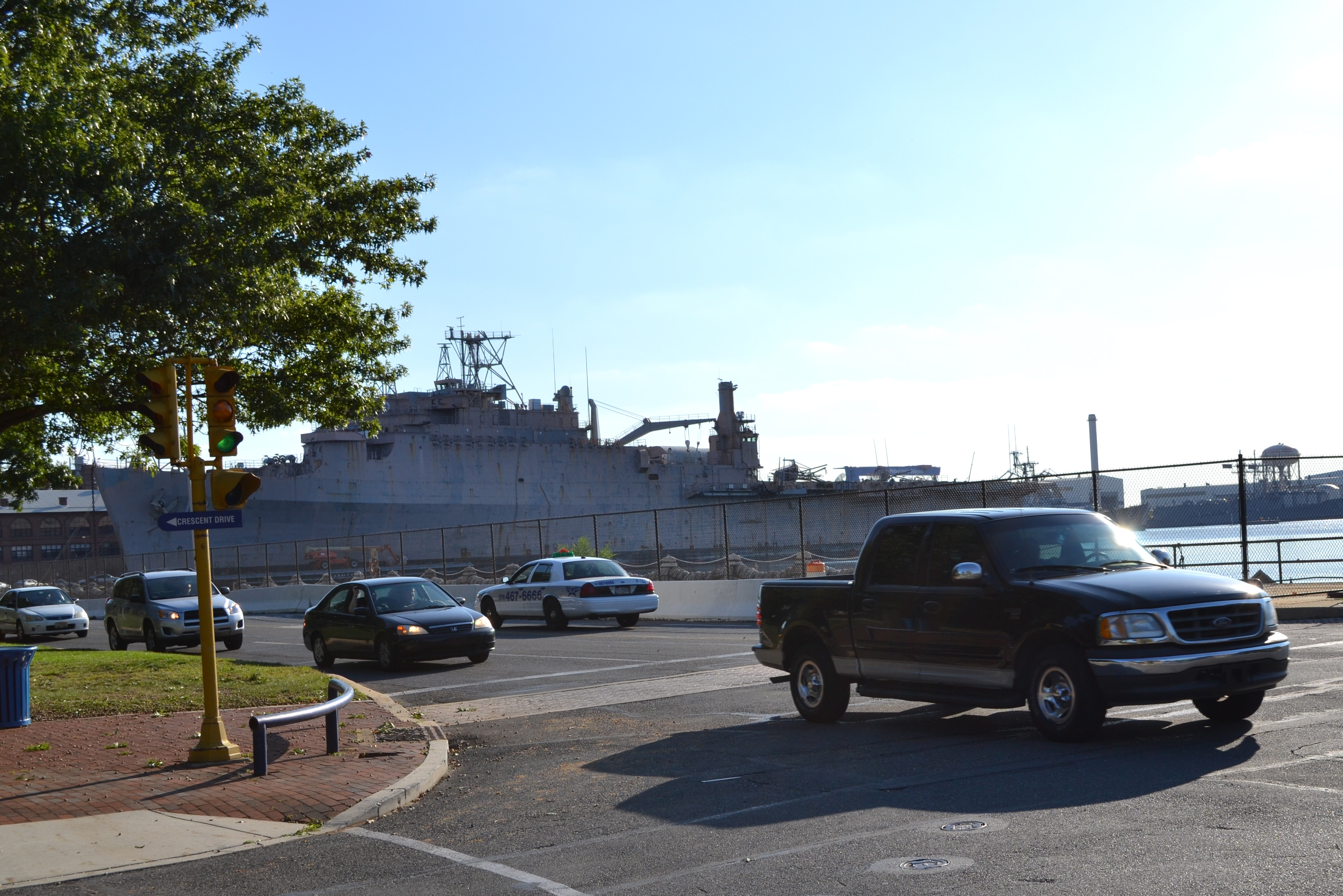 A majority of the Navy Yard's employees still drive to and from work
