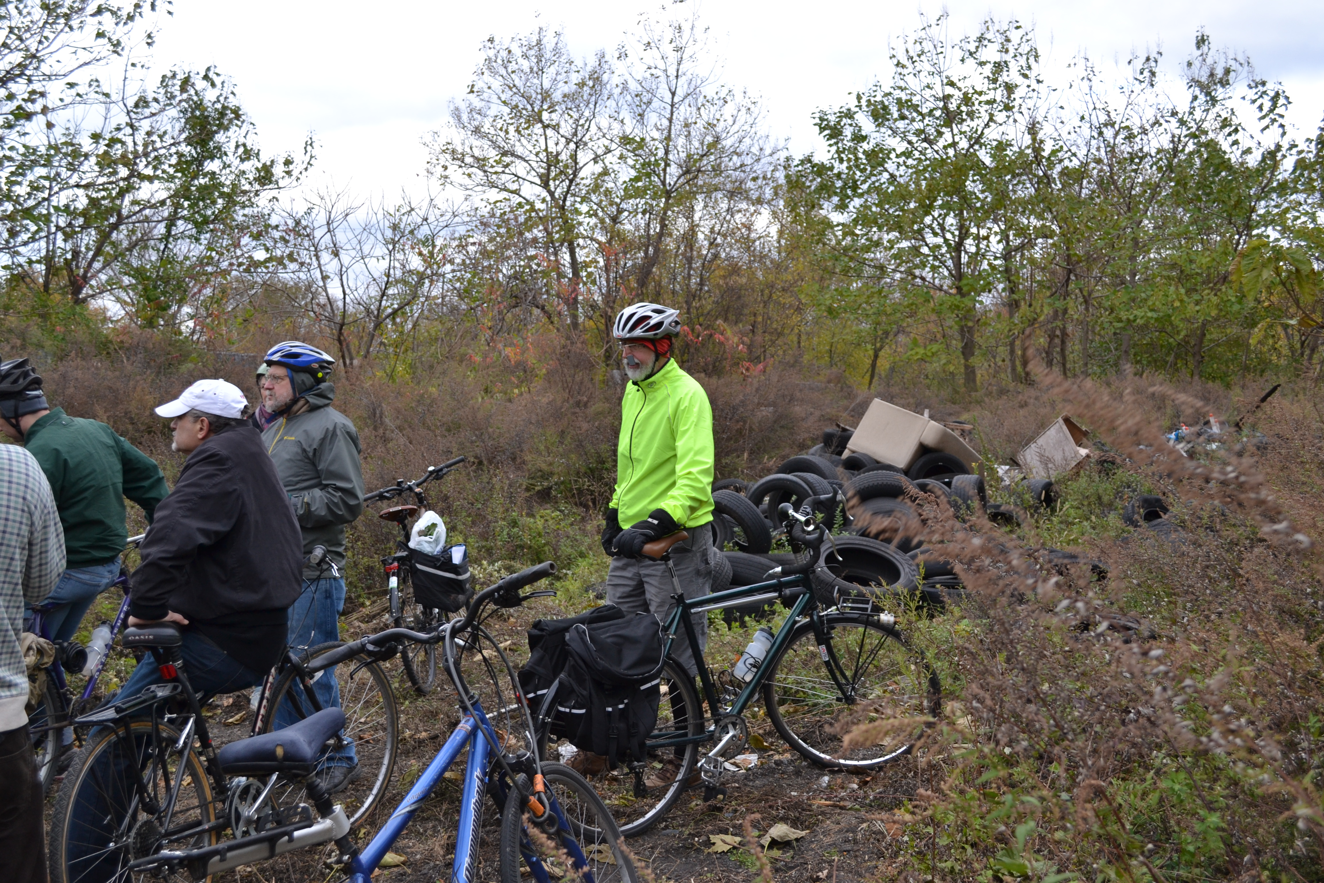 Much of the future Bartram's Mile is currently lined with trash or sites where people have dumped tires and debris