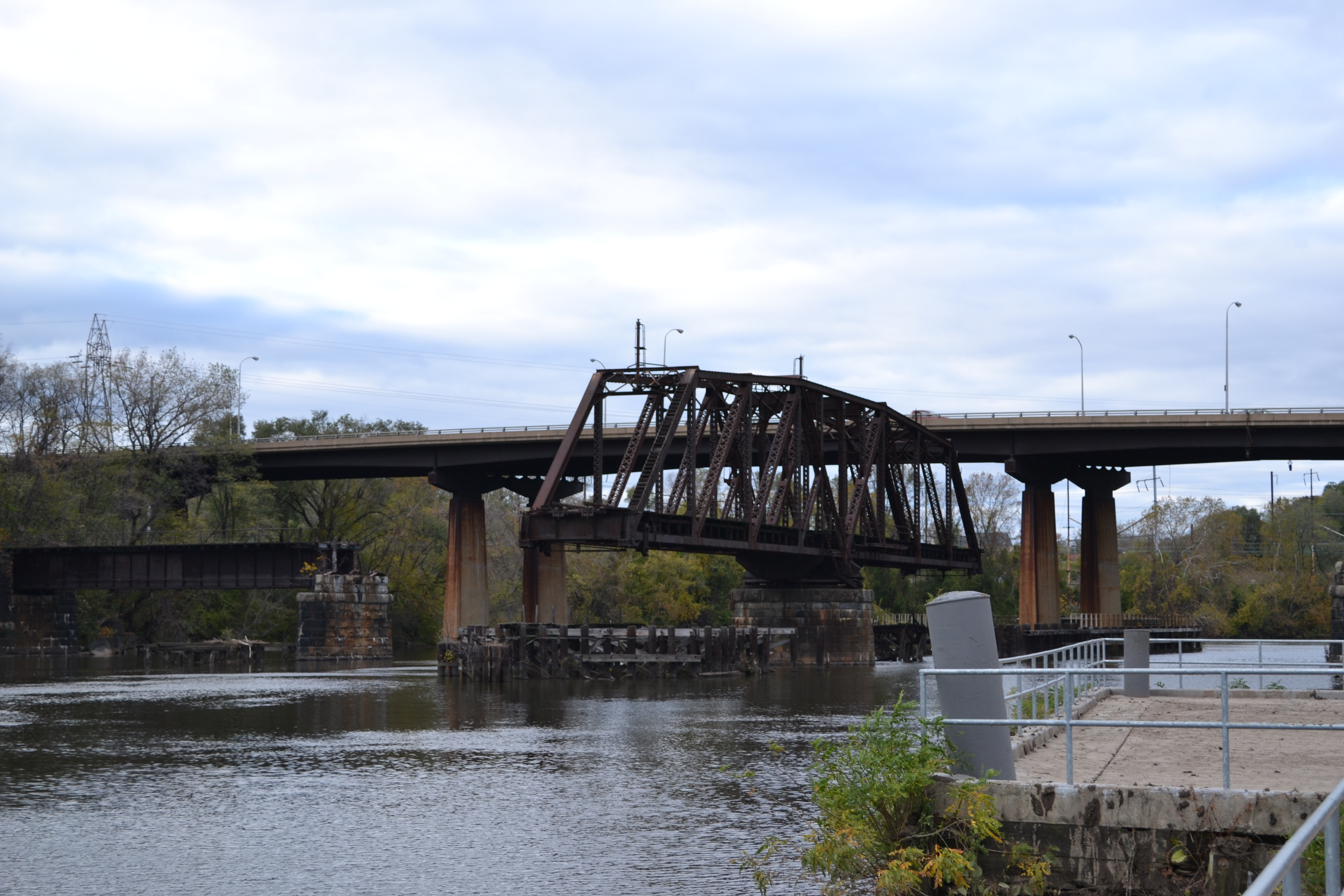 The PW&B bridge is abandoned and open, but some hope it could be rehabbed into a pedestrian and bicycle bridge to Bartram's Mile
