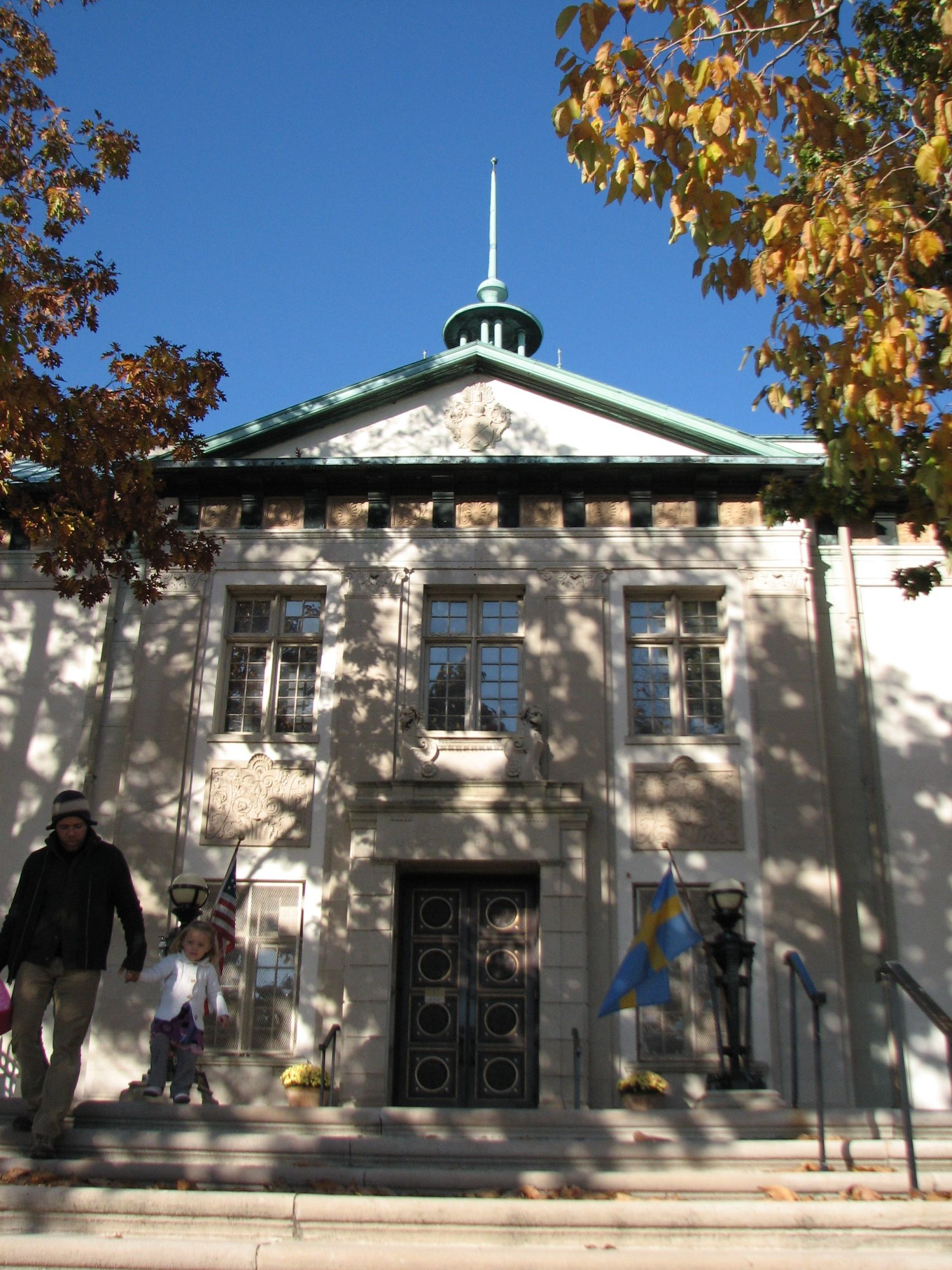 The American Swedish Historical Museum was built as part of the Sesquicentennial Exposition.