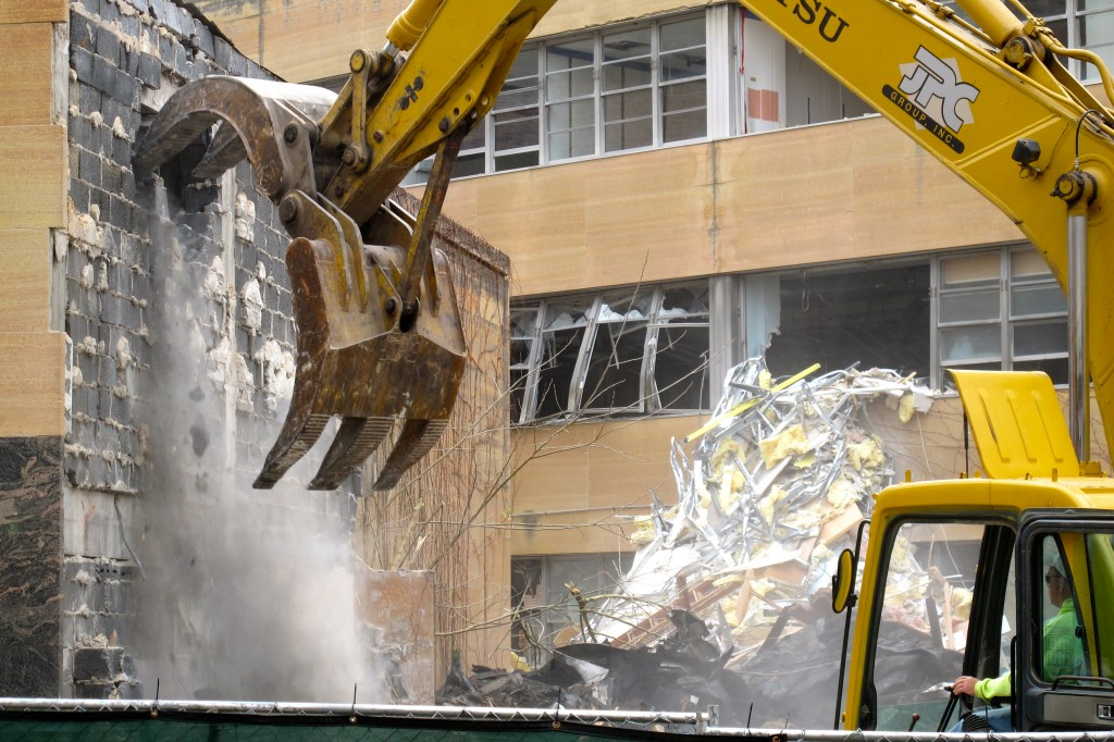 From Eyes on the Street: Modernist Hillman Medical Center demolition underway