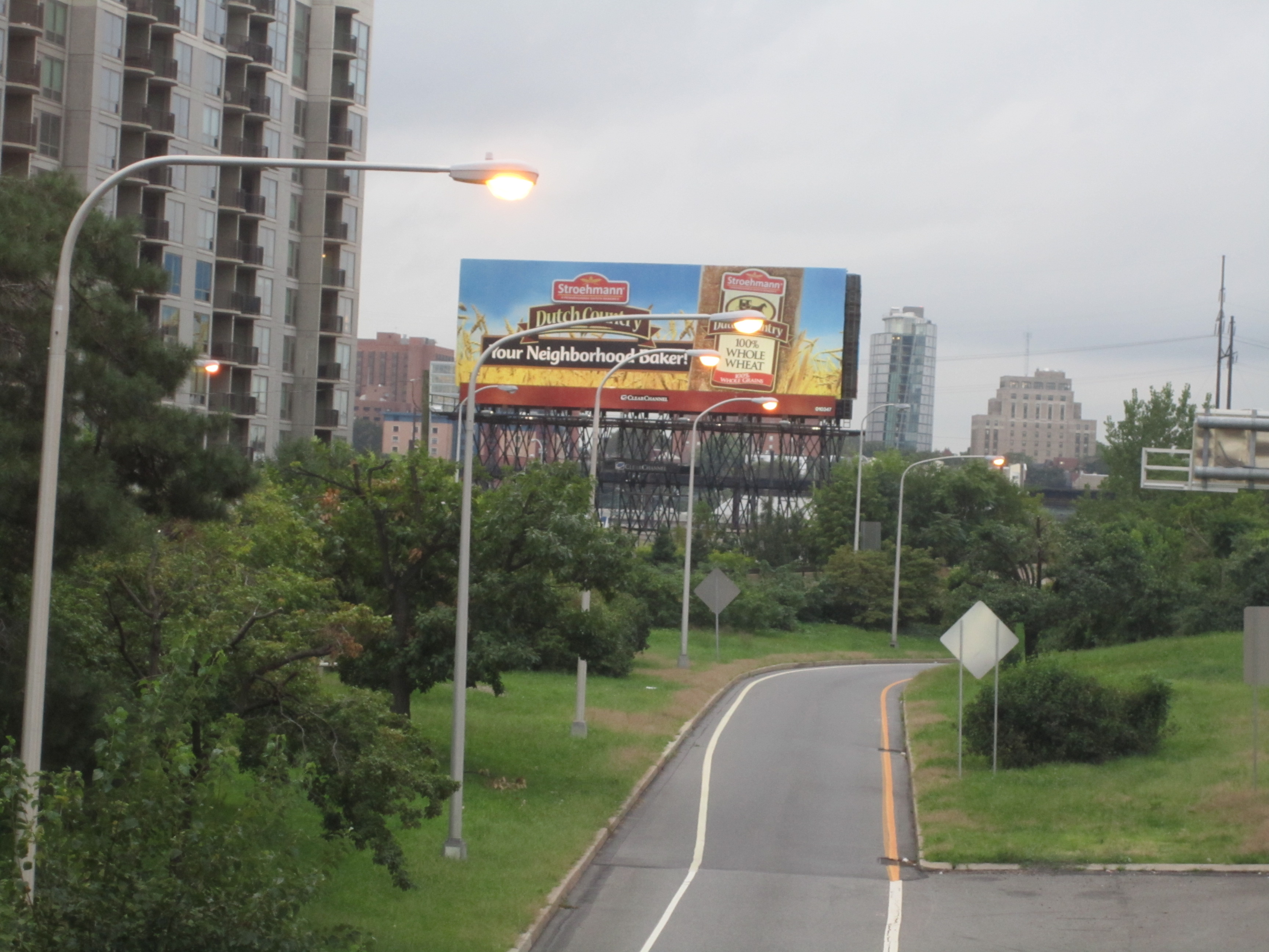 The newly cleared view of the billboard near 23rd and the Vine St. Expressway.