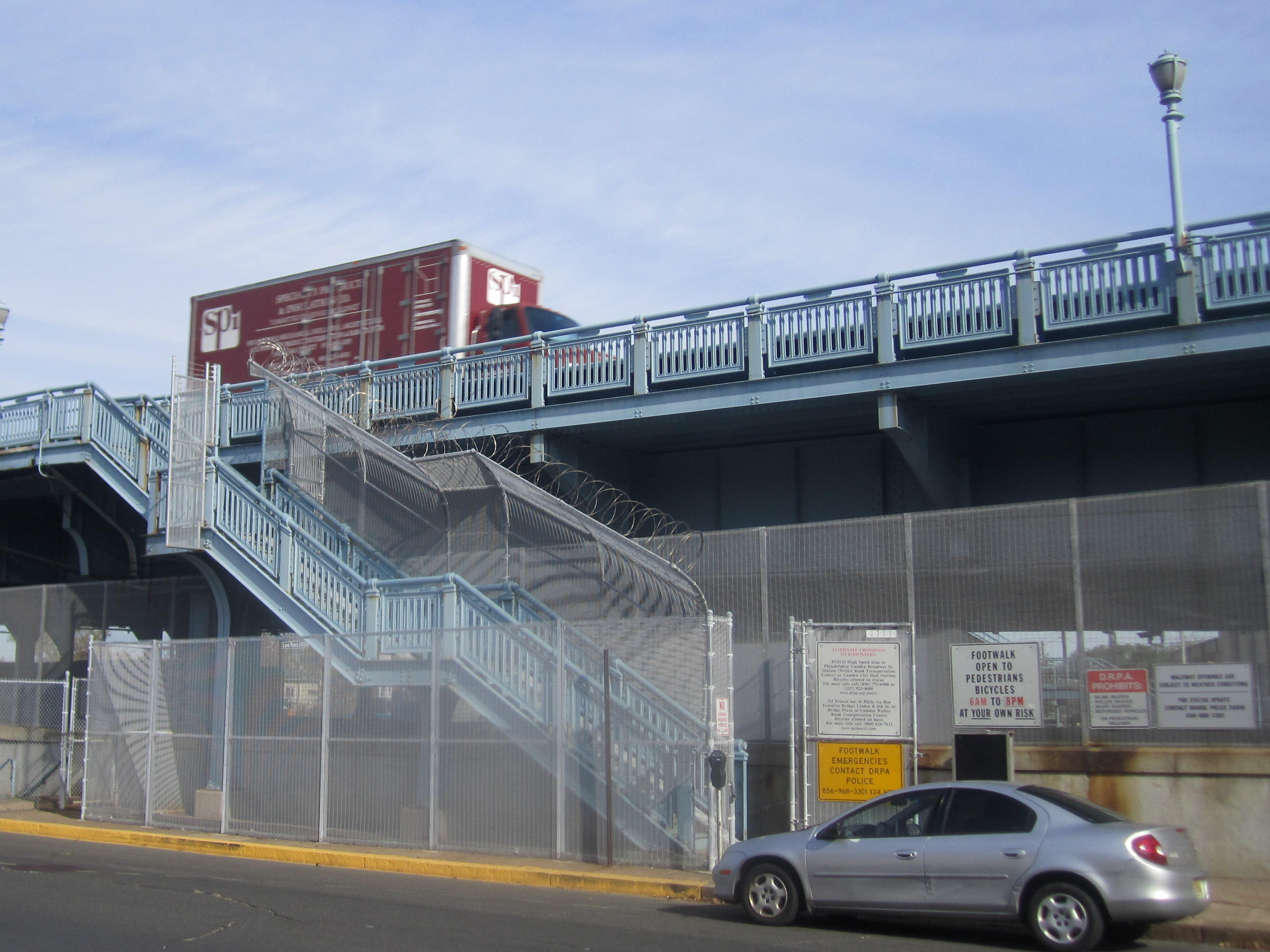 New bicycle-pedestrian ramp coming to Ben Franklin bridge in Camden