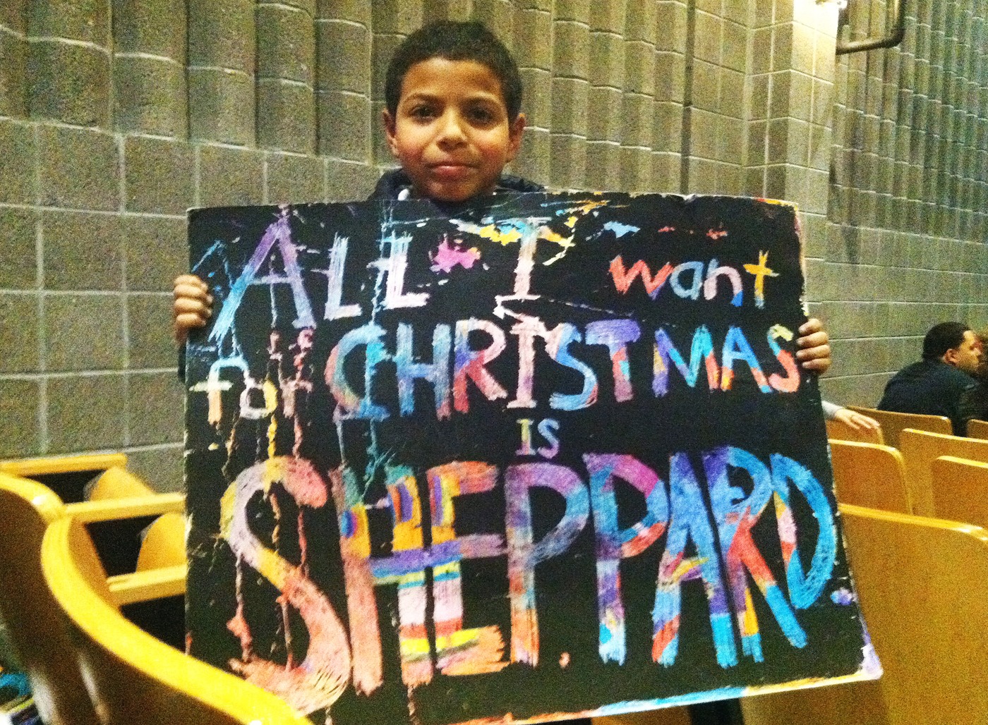 Third grader Julio Pedraza was one of about 150 supporters of Sheppard Elementary in Kensington