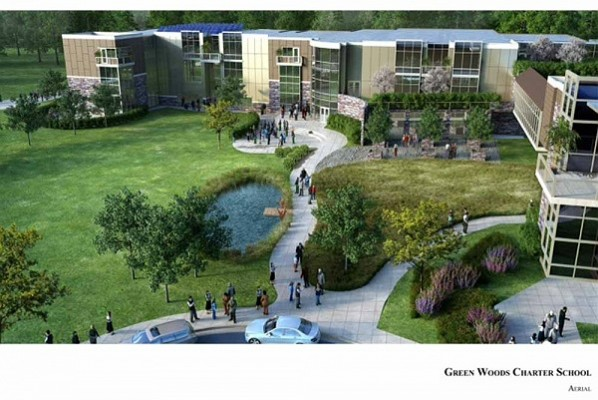 Another aerial view of the proposed Green Woods site in Roxborough (Photo courtesy of Green Woods Charter School)