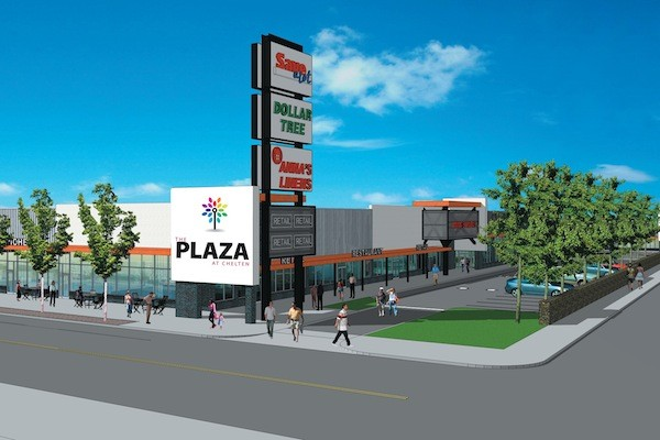 Rendering of planned Chelten Plaza project. (Courtesy of Pulaski Partners)