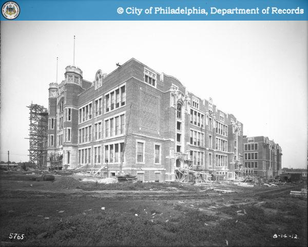 Near completion 1912. The building cost $1.176 million. PhillyHistory.org