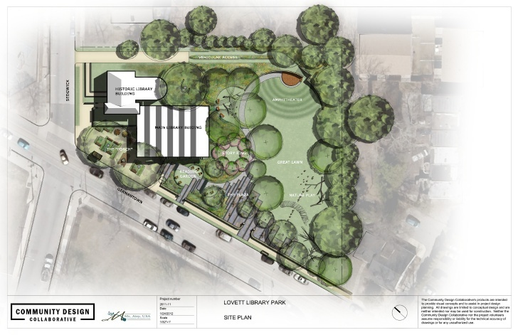 An overview of planned improvements on the library grounds.
