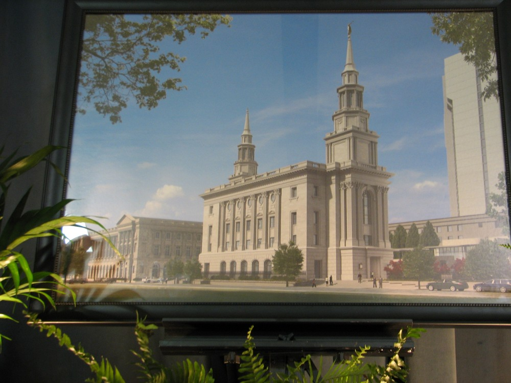 A rendering of the Philadelphia temple