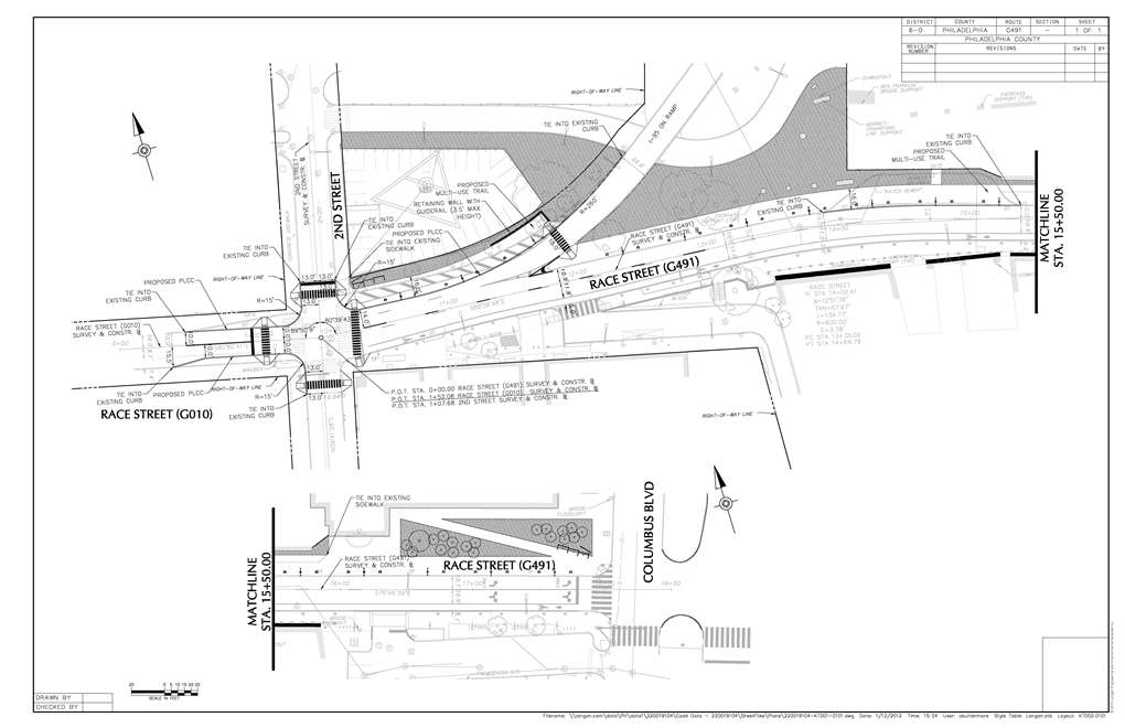 A look at Race Street and the I-95 access ramp. Ideas have not been finalized.
