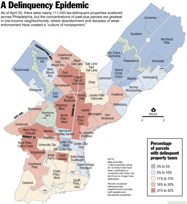 Mapping tax delinquent properties in Philadelphia