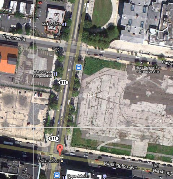 Plot of land at Broad St. and Washington Ave.
