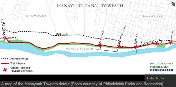 Manayunk Towpath improvement project nears completion while canal dredging gets underway