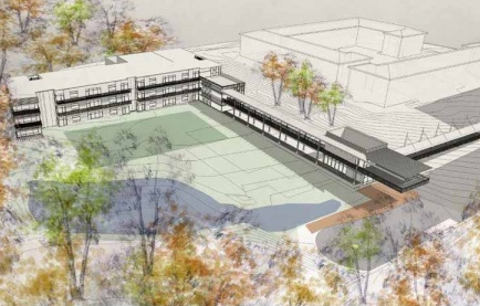 Designs and site plan renderings for the new Green Woods campus
