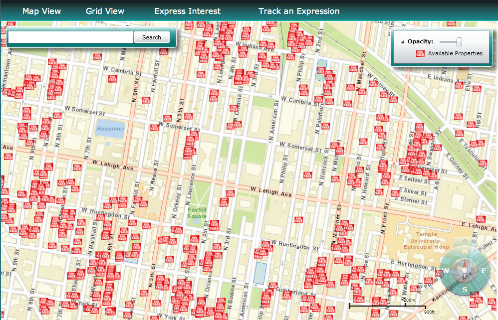 City owned properties, mapped and ready to sell.