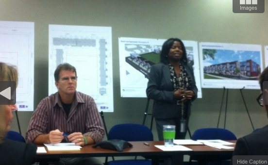 HUD division director Monica Hawkins led an October meeting about the project.