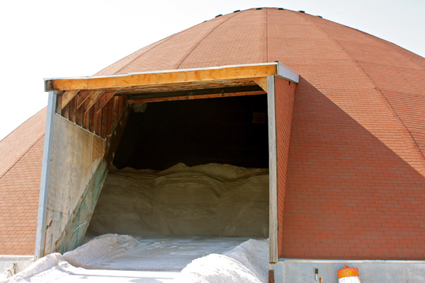 A rock salt dome is located on the Philadelphia Streets Department Facility's 2.5-acre lot.