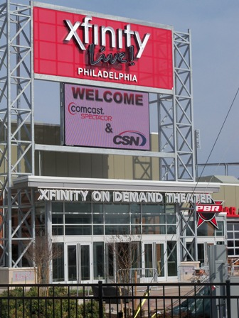 XFINITY Live! is scheduled to open on March 30 and is located in the Wells Fargo Center Complex.
