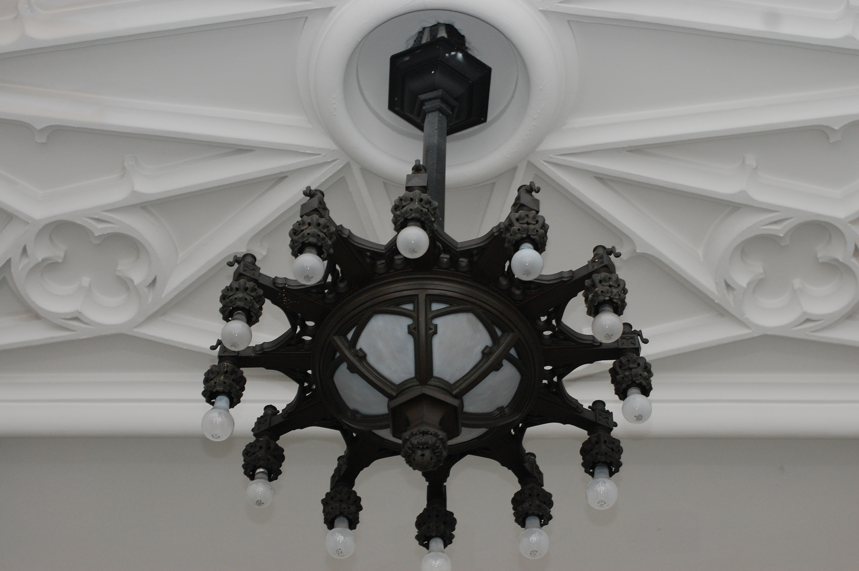 Ornate plasterwork can be found in locations throughout the school.