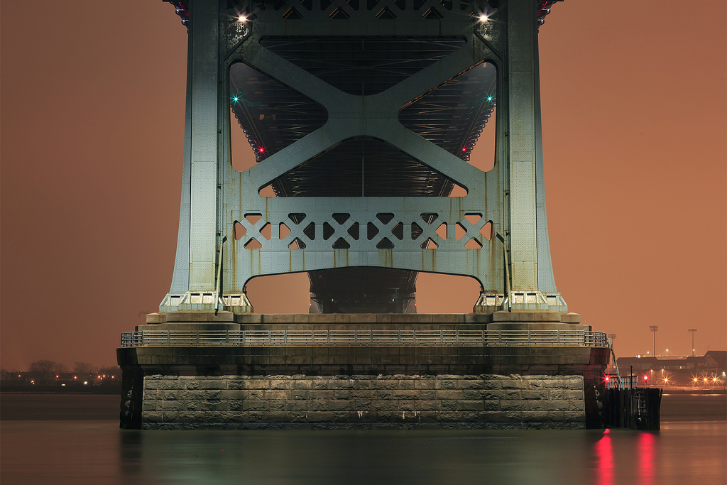 Benjamin Franklin Bridge - January 20, 2013. Paul Drzal.