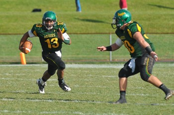 GWHS grad Aaron Wilmer now plays as quarterback for Delaware Valley College. Photo by Bill Achuff